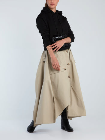 Reconstructed Trench Form Maxi Skirt