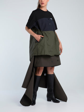 Windbreaker Trench Midi Skirt