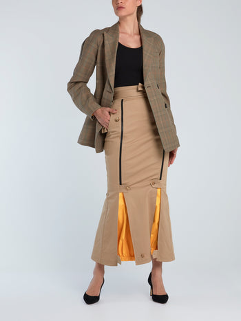 Windbreaker Mermaid Trench Skirt