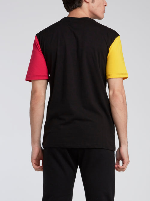 Colour Block Embroidered T-Shirt