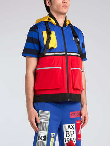 Colour Block Utility Technical Vest