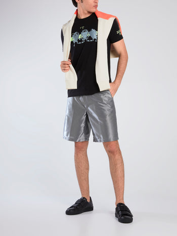 Logo Tape Metallic Shorts
