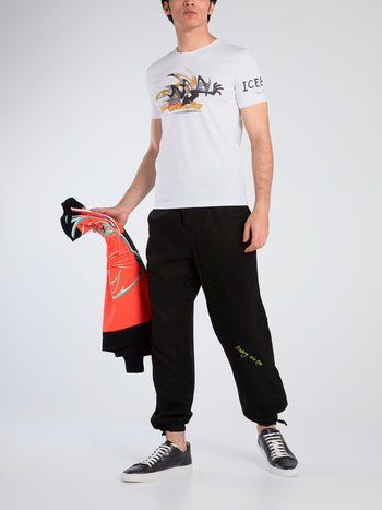 Daffy Duck White Graphic T-Shirt