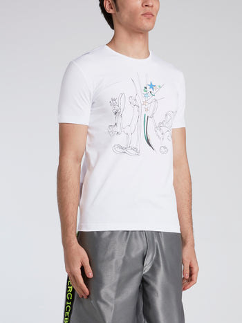 Marvin the Martian White Cotton T-Shirt