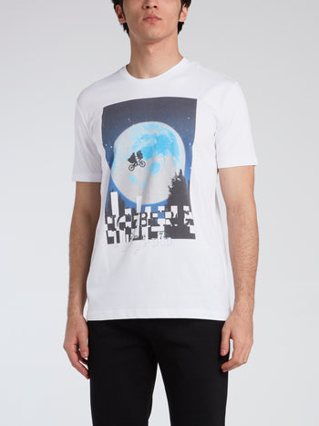 E.T. White Graphic Print T-Shirt