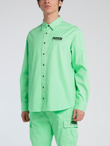Neon Green Button Up Shirt