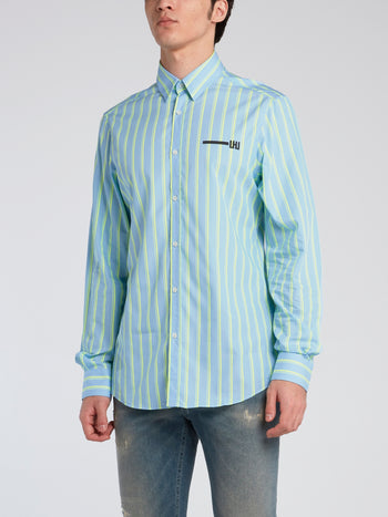 Fluo Striped Long Sleeve Shirt