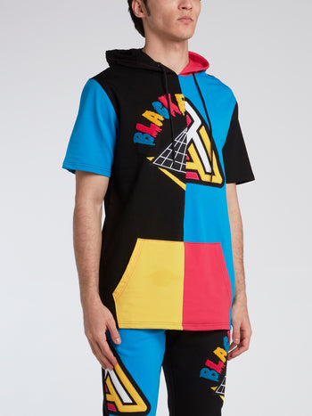 Colour Block Short Sleeve Hoodie