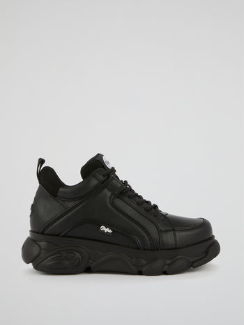CLD Corin Black Leather Sneakers