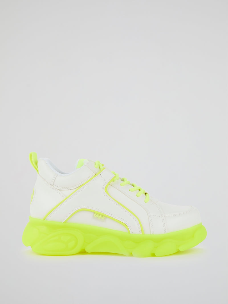CLD Corin Neon Yellow Leather Sneakers