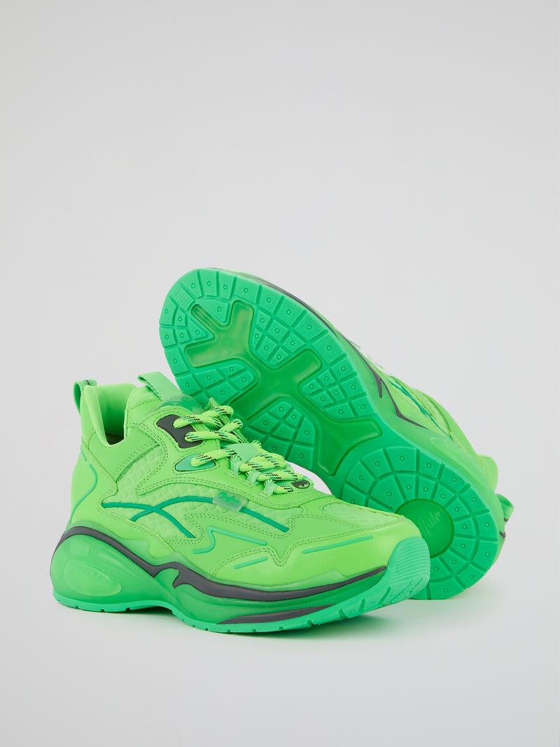 B.NCE S1 Neon Green Sneakers