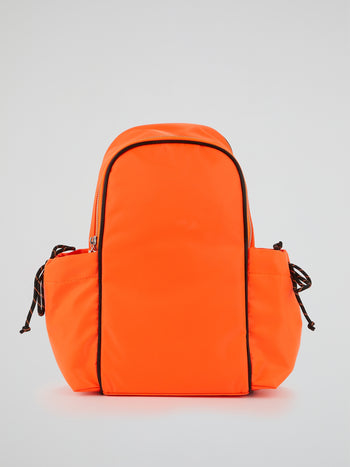 Kenzie Neon Orange Neoprene Backpack