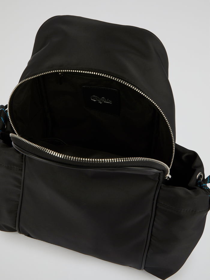 Kenzie Black Neoprene Backpack