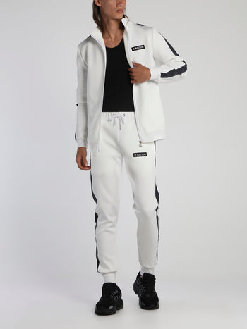 White Rainbow Reflective Tape Tracksuit