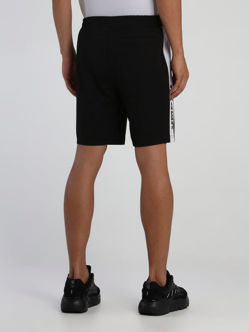 Black Side Stripe Shorts