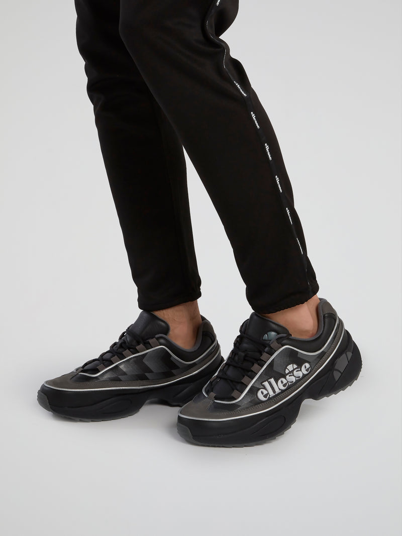 Sparta Edge Black Leather Sneakers