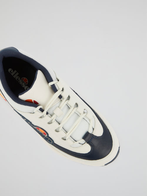 Sparta White Leather Sneakers