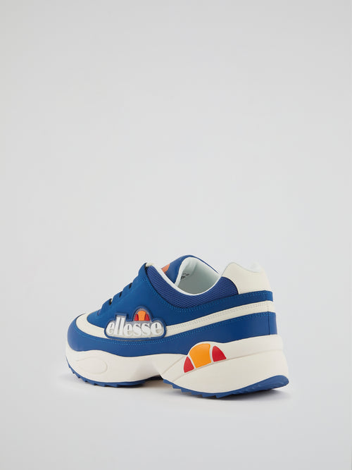 Sparta Blue Leather Sneakers
