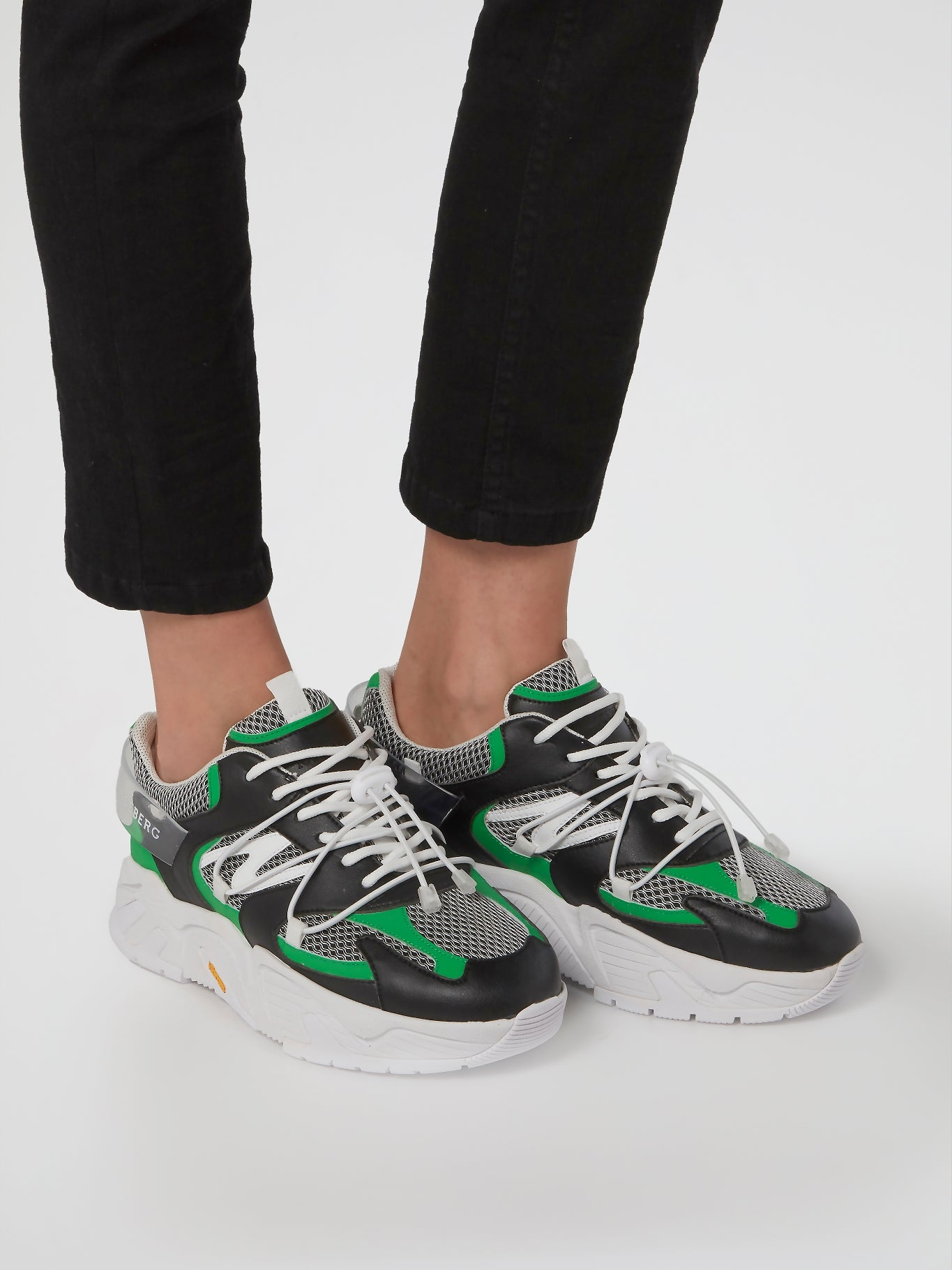Green Lace-Up Chunky Sneakers – MAISON