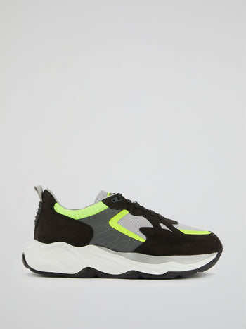 Colour Block Chunky Sole Sneakers