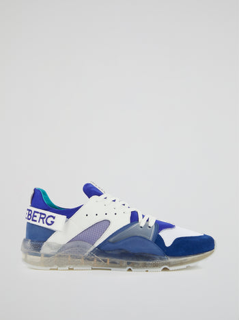 Blue Clear Sole Sneakers