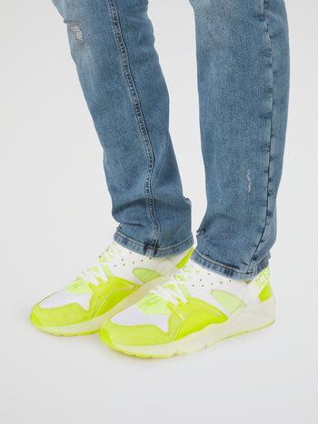 Neon Yellow Low Top Sneakers