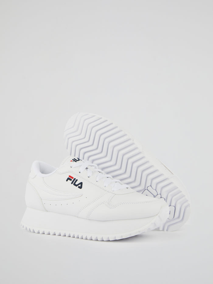 Fila Orbit White Platform Sneakers