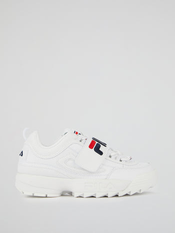 Disruptor II White Applique Sneakers