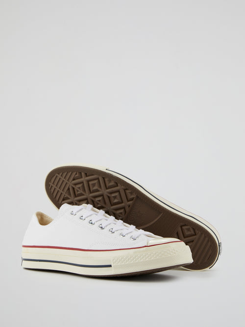 Chuck 70 OX White Canvas Sneakers