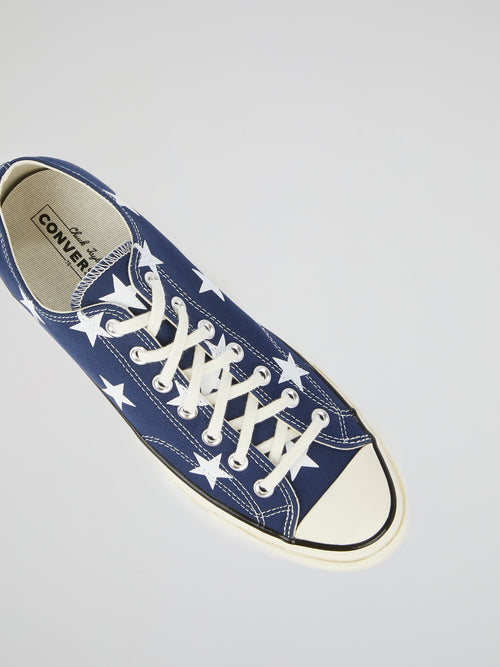 Chuck 70 OX Star-Print Canvas Sneakers