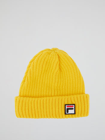 Yellow Ribbed Fisherman Beanie