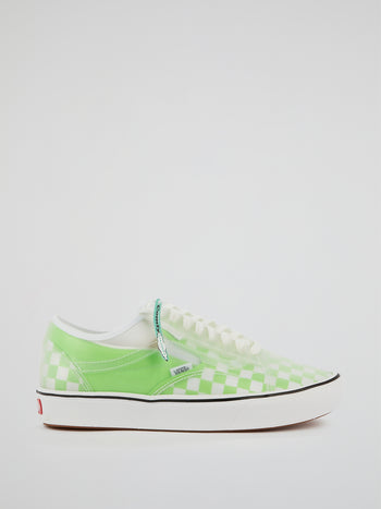 Green Checkerboard ComfyCush Slip-Skool Sneakers
