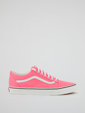 Neon Pink Old Skool Sneakers
