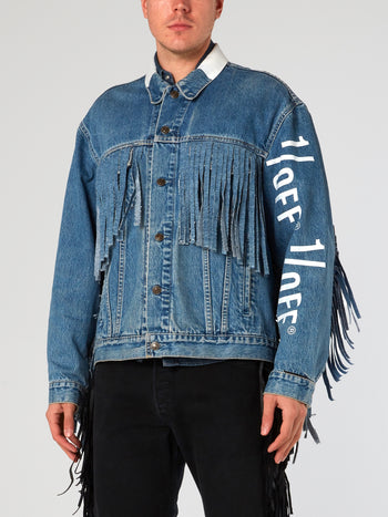 Blue Fringe Denim Jacket