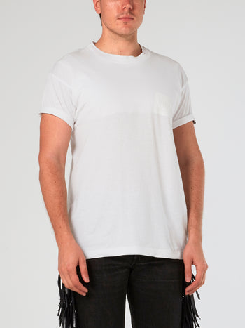 White Layered Crewneck T-Shirt