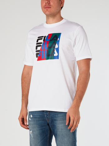 White Graphic Logo T-Shirt