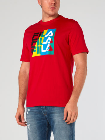 Red Graphic Logo T-Shirt
