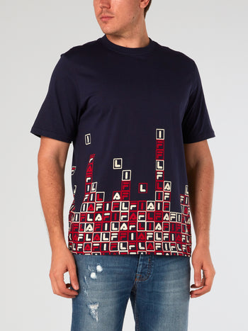 Navy Gaming Graphic T-Shirt