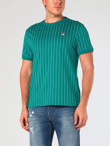 Green Striped Triple Collar T-Shirt