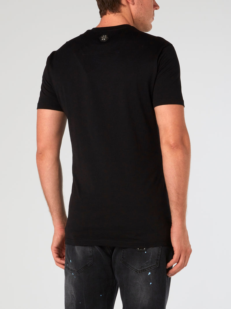 SS Plein Star Black Strass T-Shirt