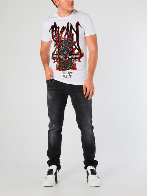 SS Graffiti White Printed T-Shirt