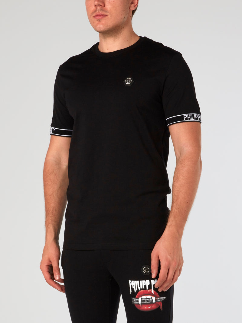 Logo Trim Round Neck T-Shirt