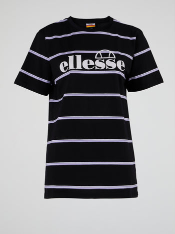 Pianna Black Striped Long T-Shirt