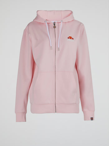 Daje FZ Pink Hooded Sweatshirt