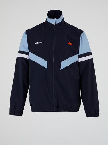 Oscuro Navy Zip Up Track Top