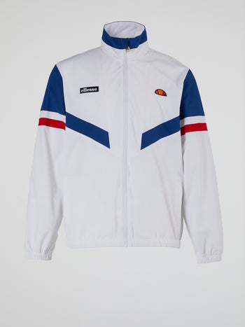 Oscuro White Zip Up Track Top