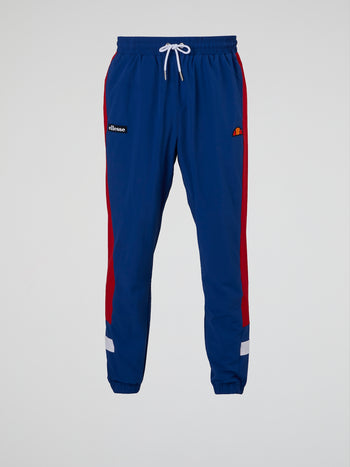 Vecoli Blue Drawstring Track Pants