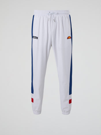 Vecoli White Drawstring Track Pants