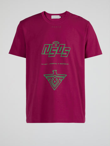 Fuchsia SOS Cotton T-Shirt