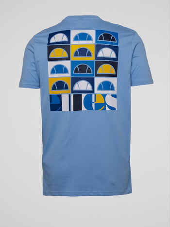 Fondato Blue Rear Print T-Shirt
